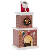 Animated Santa Chimney