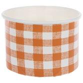 Orange & White Buffalo Check Snack Cups