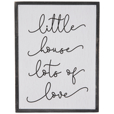 Little House Lots Of Love Wood Wall Decor