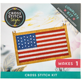 Flag Ornament Cross Stitch Kit