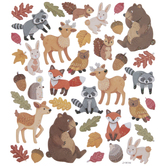 Glitter Forest Animal Stickers