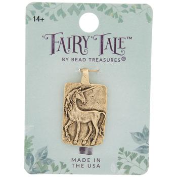 10K Gold Plated Believe Unicorn Pendant