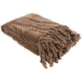 Brown Velvet Chevron Throw Blanket