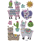Llamas & Cacti Holographic Stickers