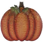Dark Orange Pumpkin Metal Decor