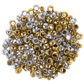 Metallic Gold & Silver Pony Beads