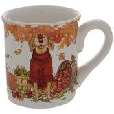 Dog In Red Sweater Mug