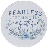 Fearless Because He Is Faithful Wood Magnet