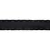Black Double Ruffle Ribbon - 1 1/2