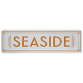 Seaside Metal Sign