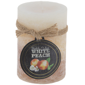 White Peach Pillar Candle