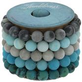 Gray & Turquoise Stone Bracelet Spool