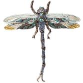 Dragonfly Rhinestone Pendant Brooch