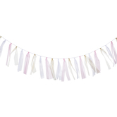 Pink, White & Gold Ribbon Garland