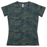 Vintage Camo Ladies T-Shirt - Large