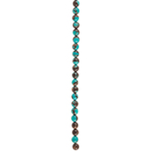 Turquoise & Amber Amazonite Bead Strand