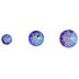 Fuchsia Shimmer Xirius Flat Back Combo Crystals