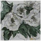 Gray & Green Floral Wood Wall Decor