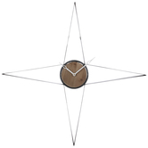 Four-Pointed Star Metal Wall Clock