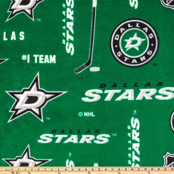 NHL Dallas Stars Allover Fleece Fabric