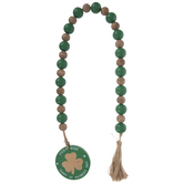 St Patrick's Day Beaded Wood Garland