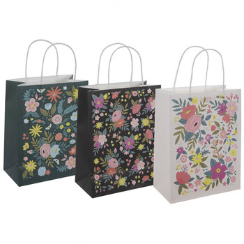 Floral Craft Gift Bags