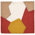 Red, Mustard & White Faux Sherpa Pillow Cover
