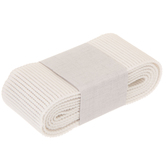 White Woven Ribbed Non-Roll Elastic