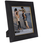 """Black With Gold Trim Wood Look Frame - 8"""" x 10"""""""