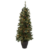 Potted Pre-Lit Christmas Tree - 4 1/2'