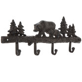 Bears Metal Wall Decor With Hooks