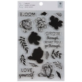 Flowers & Phrases Clear Stamps