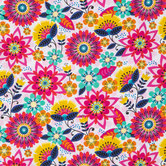 Geo Floral Apparel Fabric