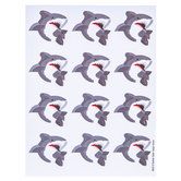 Shark Party Envelope Seals