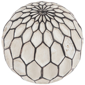 Carved Honeycomb Cream Decorative Sphere