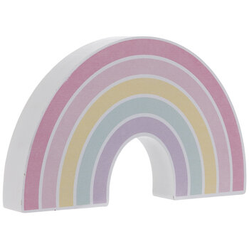 Pastel Rainbow Wood Decor