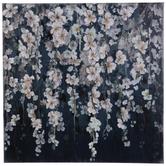 Blue & Pink Floral Vines Canvas Wall Decor