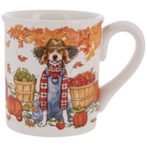 Dog In Overalls Autumn Mug