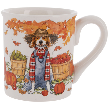 Dog In Overalls Autumn Mug