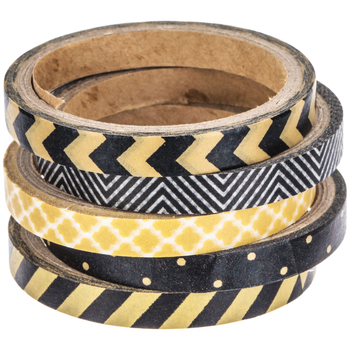 Kraft & Black Skinny Washi Tape
