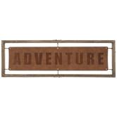 Adventure Banner Wood Wall Decor