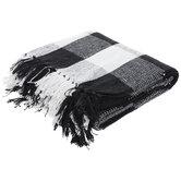 Black & White Buffalo Check Throw Blanket