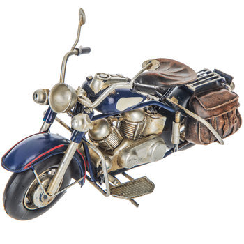 Blue Motorcycle Decor