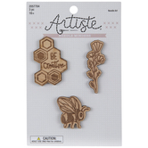 Bee Creative Wood Needle Minders