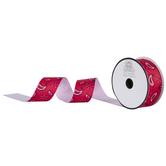 "Red Paisley Grosgrain Ribbon - 1 1/2"""
