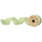"""Striped Wired Edge Ribbon - 1 1/2"""""""