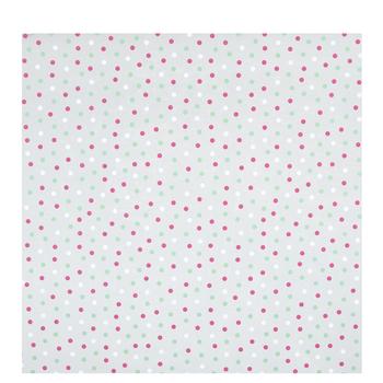 Red, Green & White Polka Dot Basket Wrap