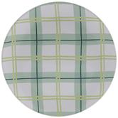 Dolly Parton Green Plaid Plate