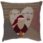 Plaid Santa Pillow