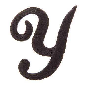 Black Letter Iron-On Applique - Y